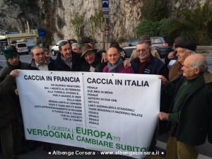 Manifestazione caccia Ponte San Luigi 26-2-2014