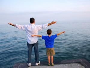Padre e figlio mare