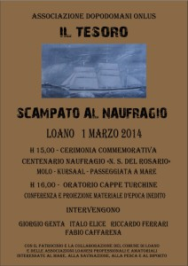 locandina centenario naufragio