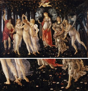 Botticelli Primavera e part
