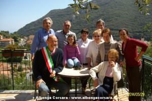 Maria Bonora e sindaco Ugo Frascherelli