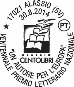 Annullo filatelico Alassio cento libri 2014