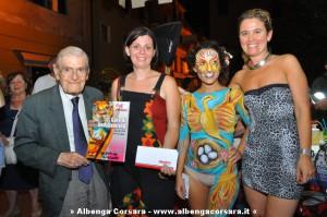 Gara di Bodypainting Pietra Ligure premiazione