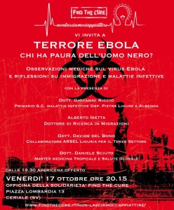 ebola Find the cure Ceriale 17-10-2014