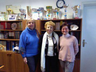 Ada Grecchi, presidente Zonta Alassio-Albenga Sandra Berriolo, preside Simonetta Barile