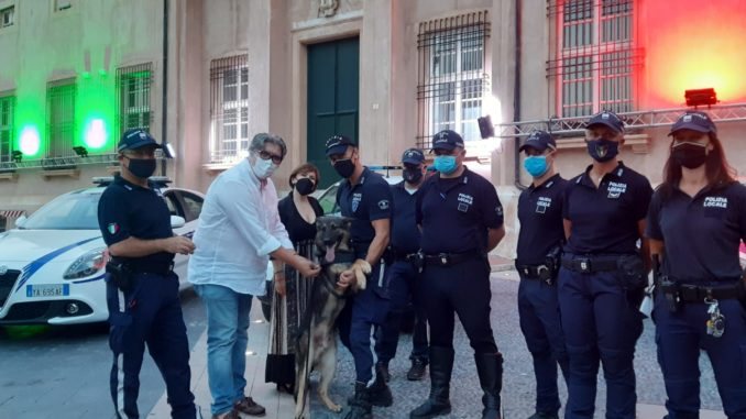 Local police Riviera of Ponente - drug sniffer dog Lupo
