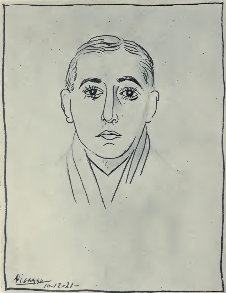 Picasso ritratto Huidobro 1921