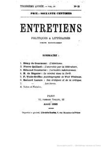 Entretiens1892