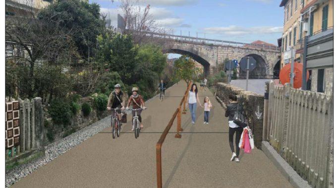 rendering - nuevo carril bici en Andora