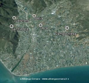Albenga Zone oggetto delle osservazioni al Puc del Comitato Territoriale