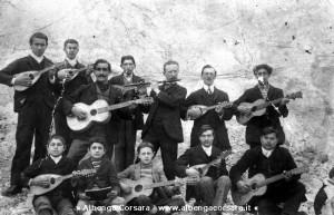 Un gruppo di Chitarre e mandolini a Noli a fine 1800