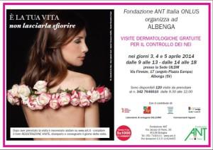ANT progetto melanoma visite Albenga aprile 2014