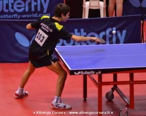 Daniele Roncallo impegnato nel torneo nazionale di Terni