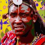 Gianni Carrea Rosso Masai cm. 70x50 olio su tela 2013