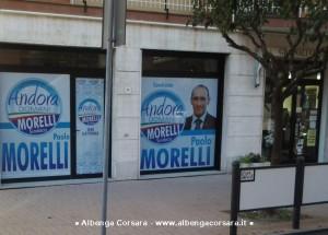 Paolo Morelli foto vetrine sede elettorale