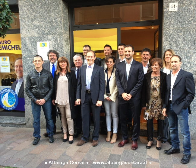 Andora I candidati della lista civica a sostegno di Mauro Demichelis