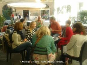 Giornalisti ad Albenga centro storico