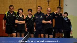 Le squadre di Toirano A e Don Bosco Varazze prima dello scontro al vertice della Serie D2
