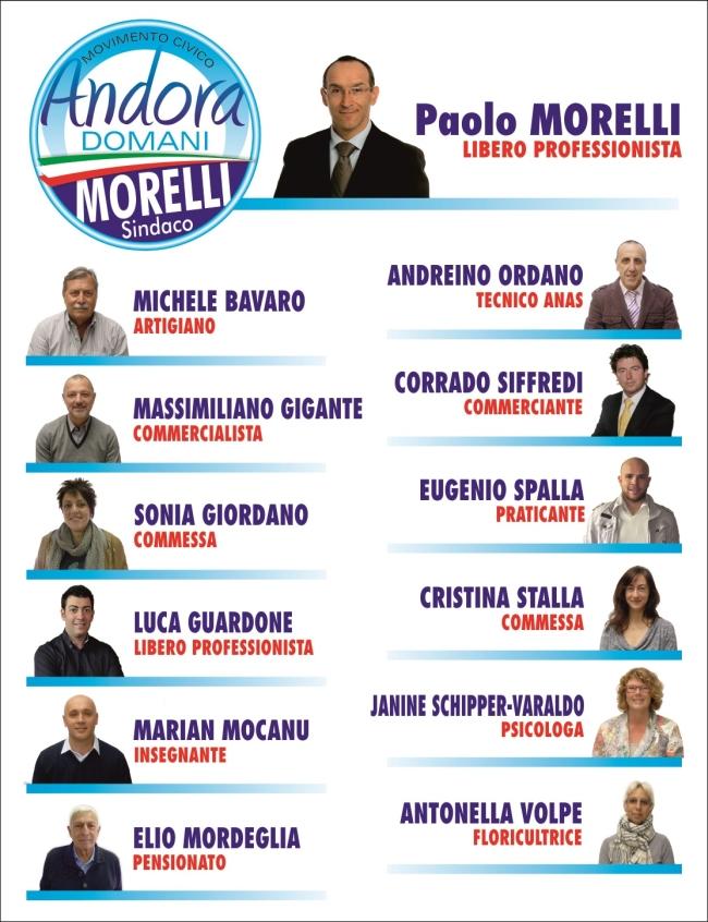 Morelli e Lista Civica Andora Domani