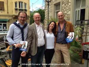 Licia Ronzulli con sindaco Alassio Canepa e consigliere regionale Melgrati
