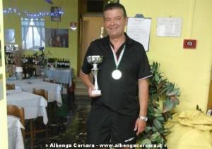 Vittorio Carchero, medaglia d'oro ai campionati regionali liguri Veterani