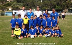 Riccardo Gagliolo e Paolo Rossi con i piccoli giocatori andoresi