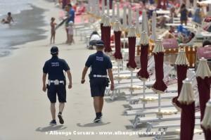 Alassio Polizia Sulla spiaggia