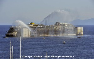 Partenza Costa Concordia 23-7-2014