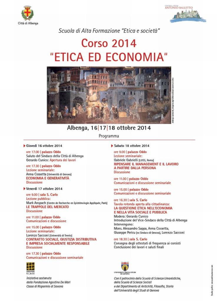 Corso Etica e Economia