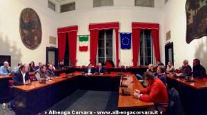 Sindaci sala consigliare Albenga 29-10-2014