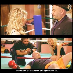 Chiara Ragnini e Davide Geddo sul set clip Il post amore