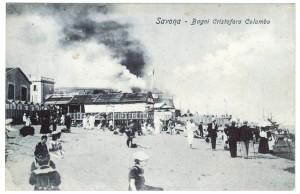 Bagni C Colombo cartolina Savona