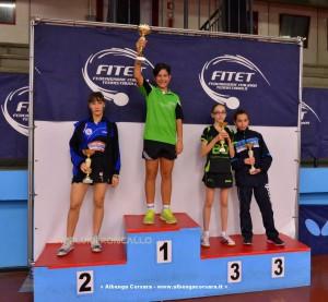 Valentina Roncallo sul podio del singolare femminile Ragazze