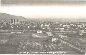 Albenga - 1925 dal monte l'Aurelia ancora sterrata
