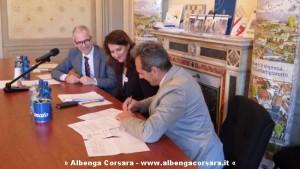 Firma Salvatore e Vito Mangano, presidente Edili Genova