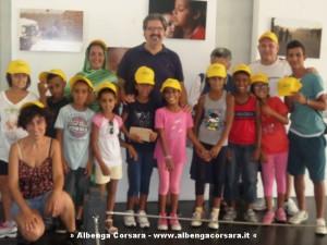 Loano Pignocca e bambini sahrawi