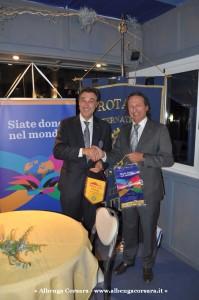 1 - Gianni Vernazza ospite del Rotary Club di Albenga