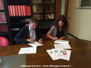Accordo firma Alessandro Berta e Ilaria Becco
