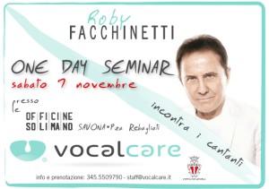 One day seminar Roby Facchinetti 7 novembre 2015