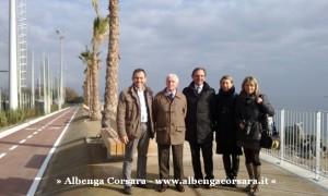 1 visita alla rinnovata passeggiata a mare di Zinola