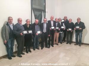 I premiati per i 25 anni in Confagricoltura Savona