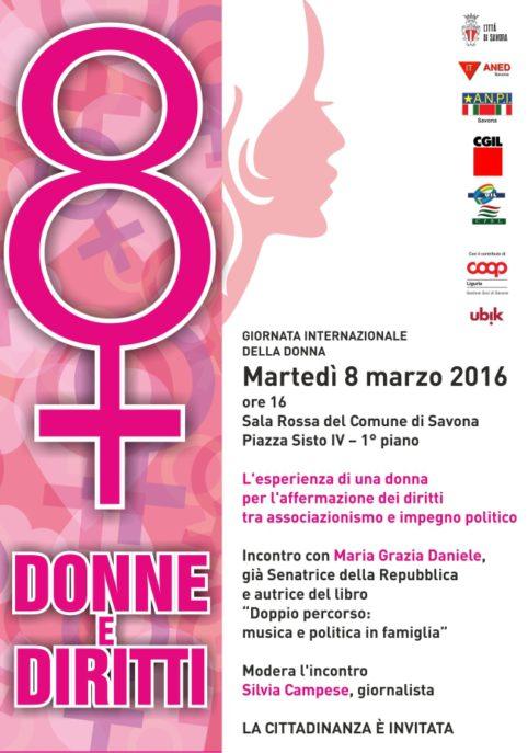 Donne e diritti Savona 8 marzo 2016