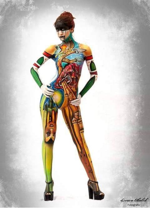 opera body painting