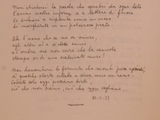 Autografo Eugenio Montale