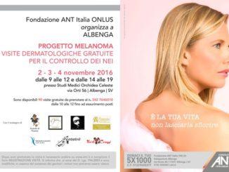 Progetto melanoma visite Albenga Ant 2016