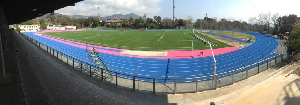 Lo Stadio intitolato Olmo a Celle Ligure