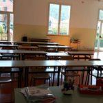 03 aula allestita nella palestra delle scuole di MOlino Nuovo Andora