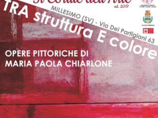 Millesimo personale della pittrice Maria Paola Chiarlone
