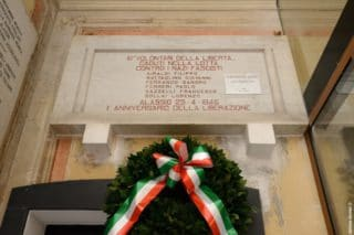 13 Giorno Memoria cerimonia ad Alassio Targa Luigi Therisod