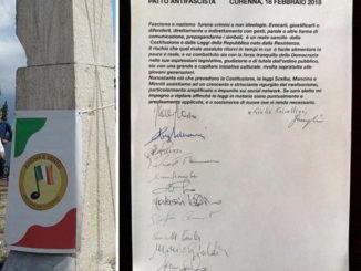 Fischia il Vento Patto antifascista firme